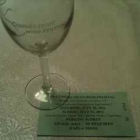 CT Wine Festival glass with ticket