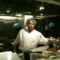 Chef Franco-Camacho in open kitchen